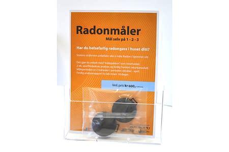 Statens Strålevern anbefaler alle å måle Radon i hjemme sitt Det gjør du enkelt med Bacas Radonmåler.