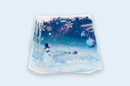 Julebærepose med trykk