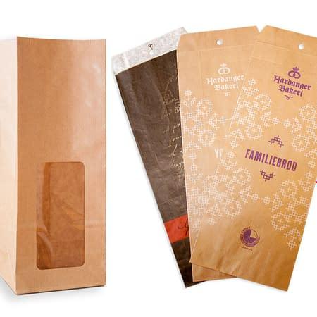 Papirposer for bakeren