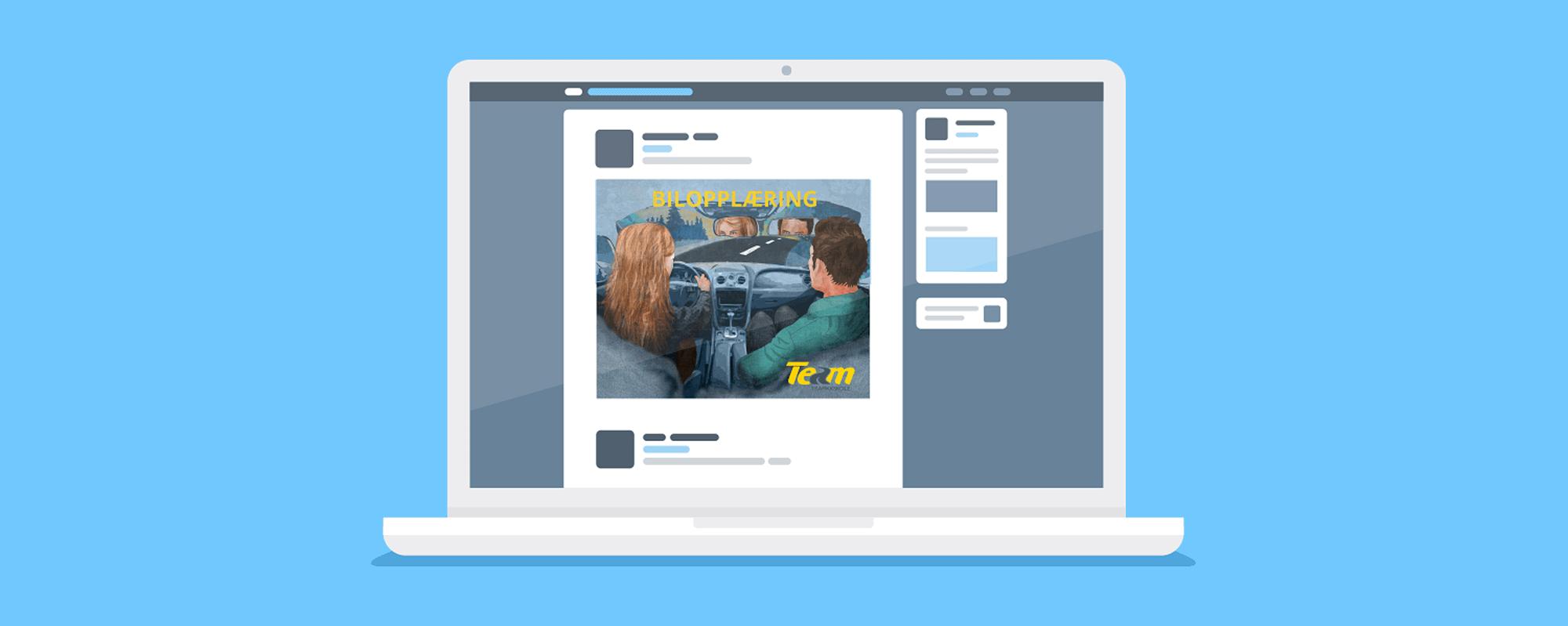 Illustrasjoner for digitale annonser på Facebook