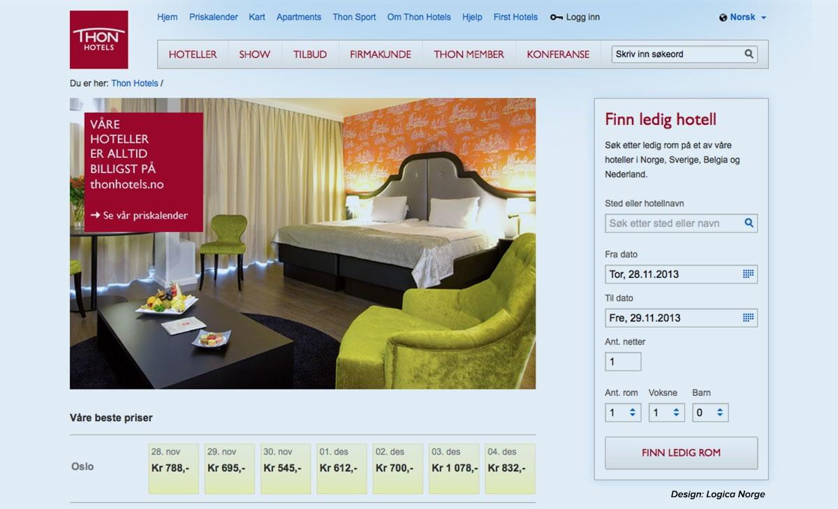 Online booking i webløsning øker salget