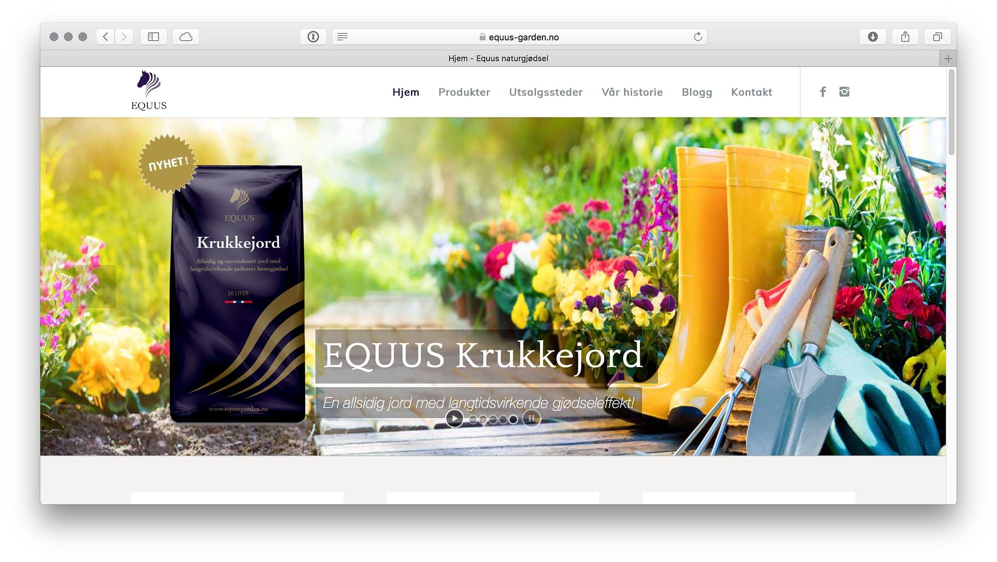 Equus garden design av nettsted for hage og gjødsel