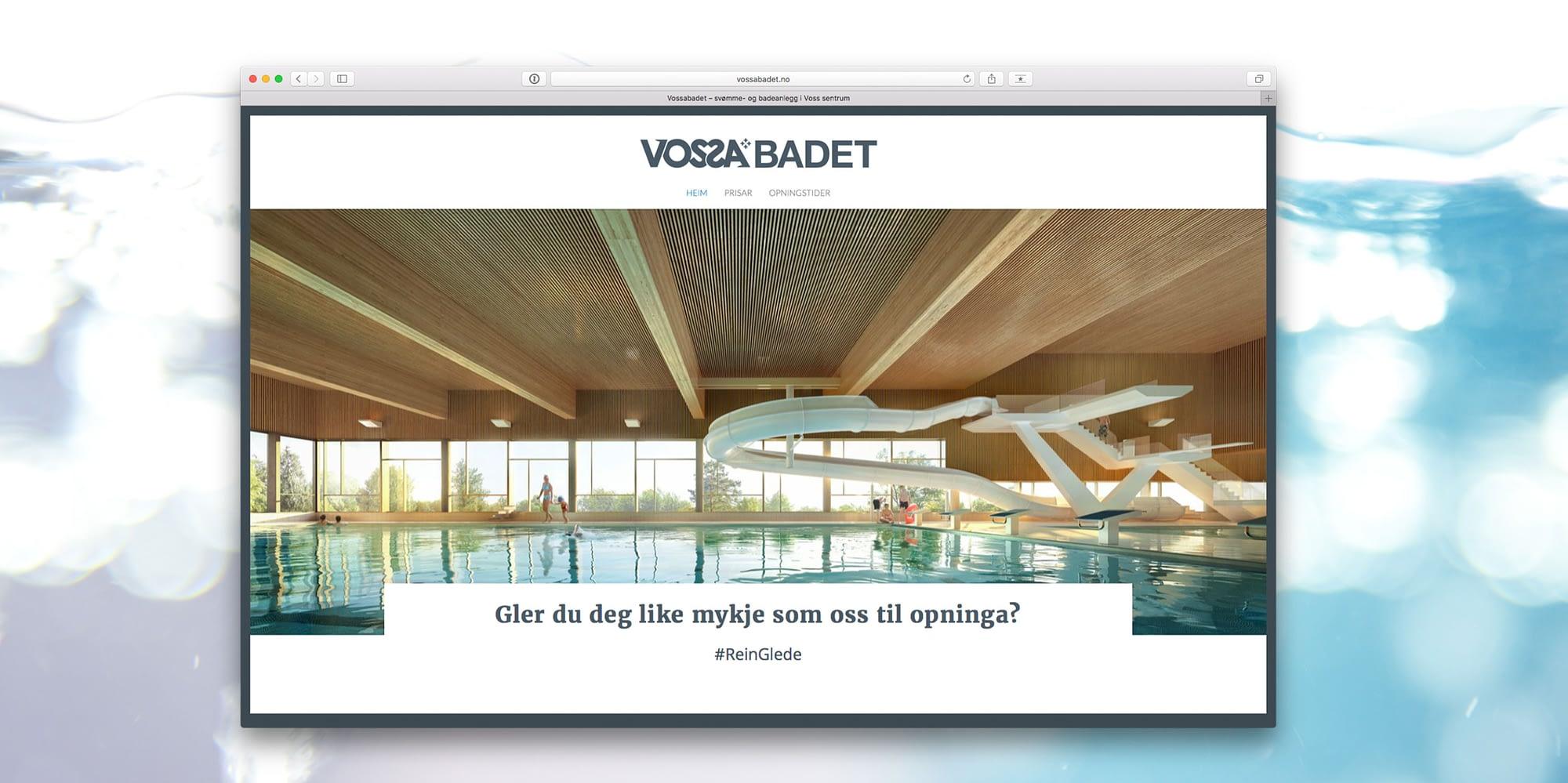 Nettsidedesign og hjemmesidedesign for nettsiden til Voss av designbyrå på Voss