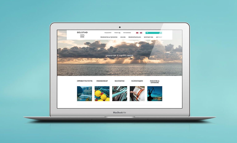 Nettside med spesiallaget design, utviklet i Wordpress