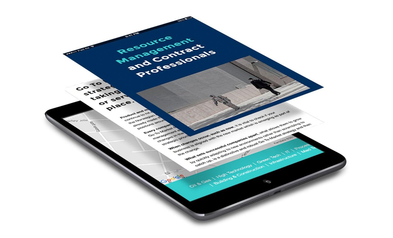 iPad design for North Consultants