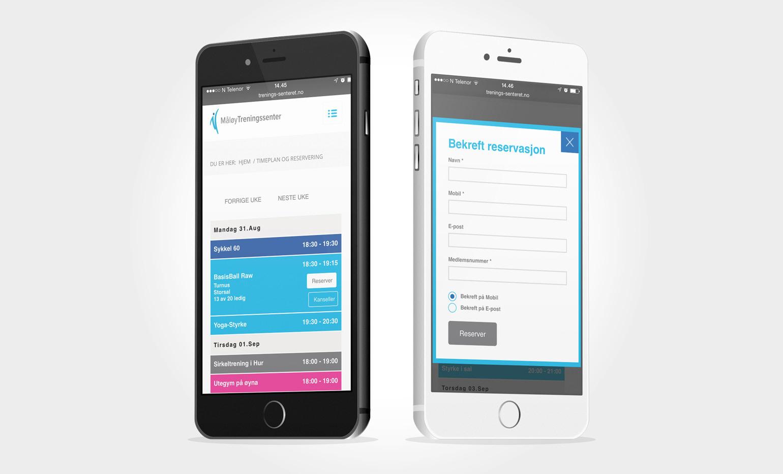 Programmering av webapplikasjon tilpasset mobil
