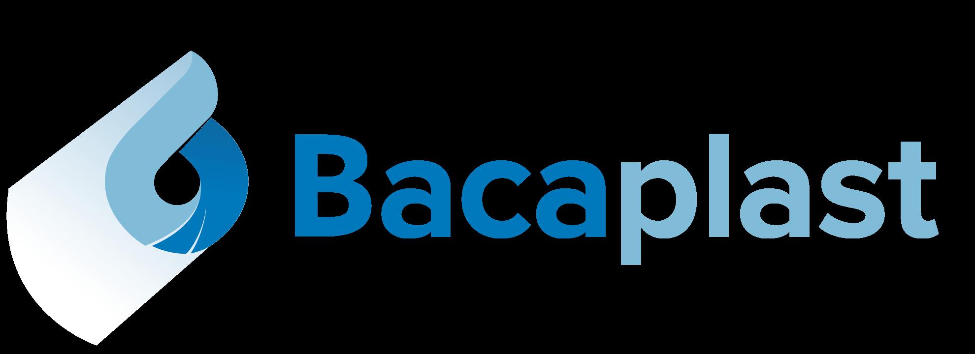 Stilren logo som del av grafisk profil for bacaplast