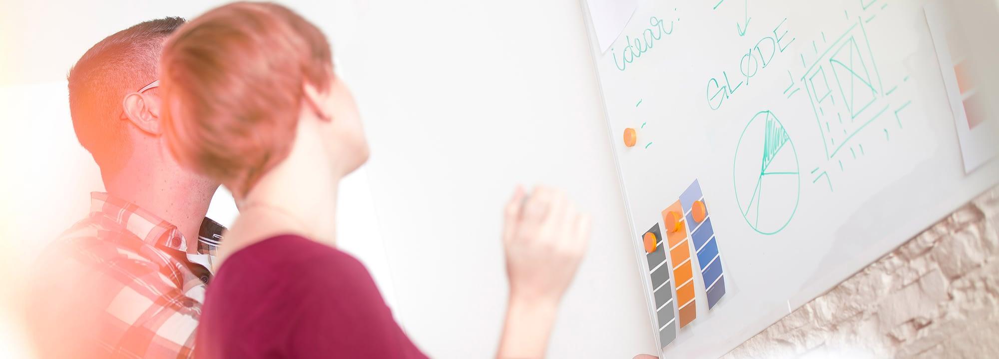 Workshop med reklamebyrå ved design av ny nettside