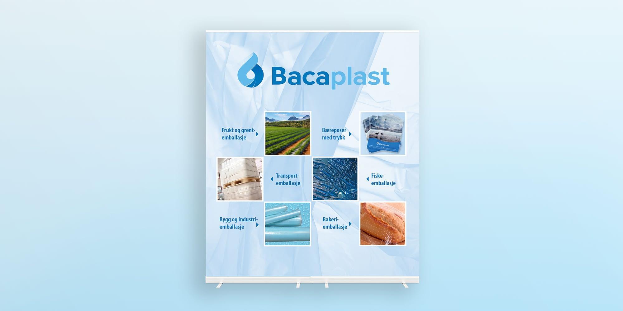 Baca plast grafisk profil - designet av reklamebyrå på vestlandet
