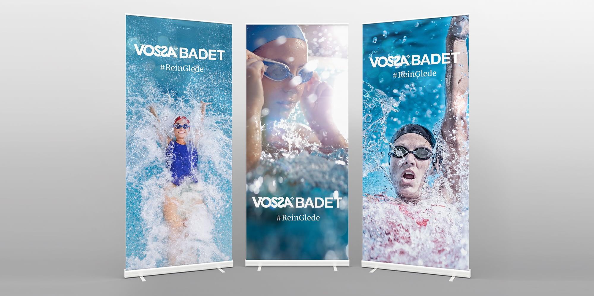 Proff rollup med logo for firma og kommune voss designet av reklamebyrå