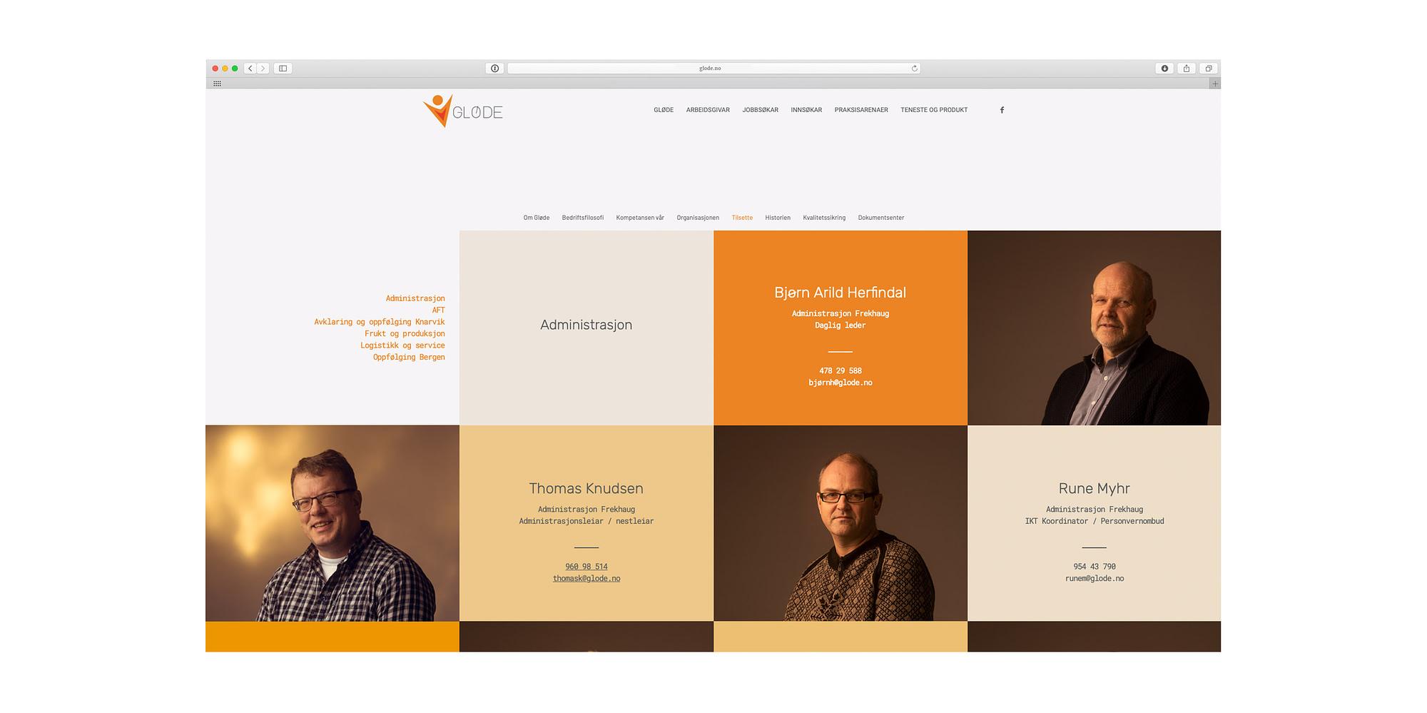 Ny hjemmeside tilpasset mobil for Gløde