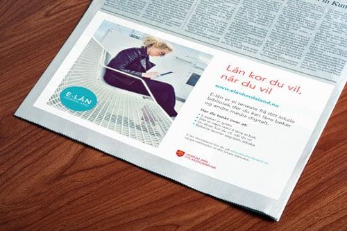 Reklamebyrå som designer annonser for små og mellomstore bedrifter.